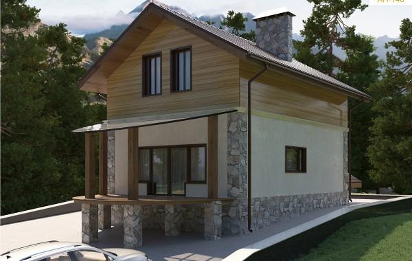 Готовый проект дома 97 кв.м // Артикул АН-146
