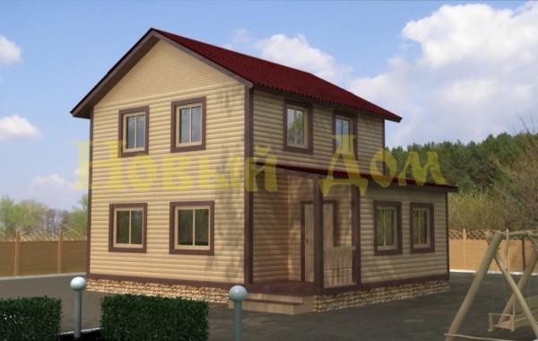 Каркасный дом. Проект Д-23-К.