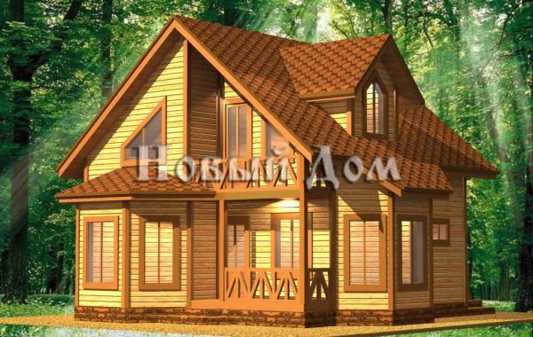 Каркасный дом. Проект К-3.