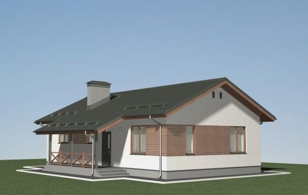 Проект небольшого одноэтажного дома Б-05-18