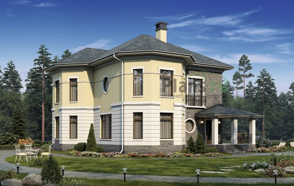 Проект кирпичного дома 40-28