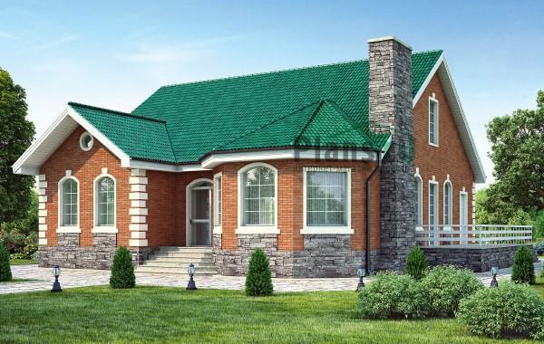Проект кирпичного дома 40-51