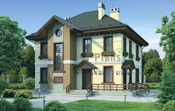 Проект кирпичного дома 40-67