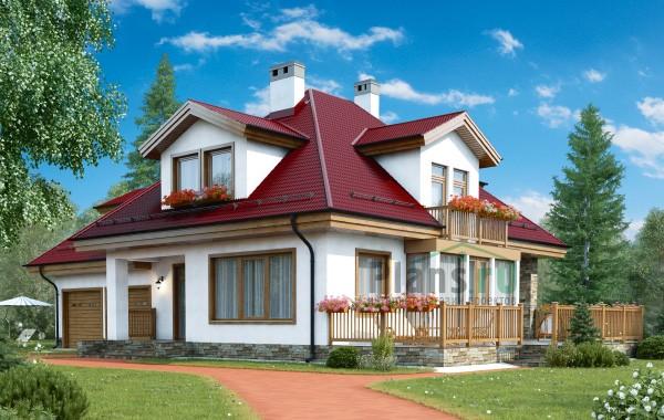 Проект кирпичного дома 41-07