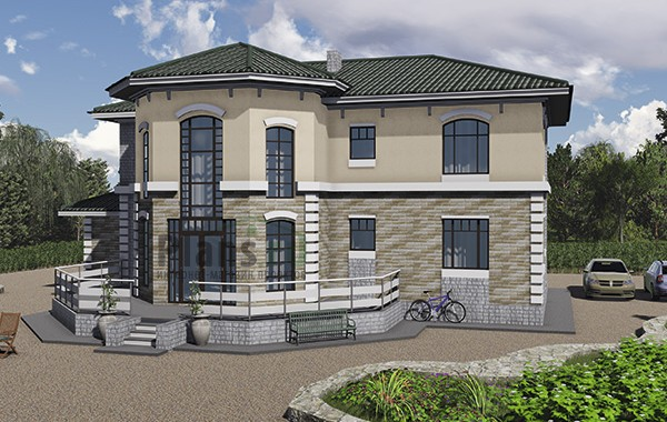 Проект кирпичного дома 41-13