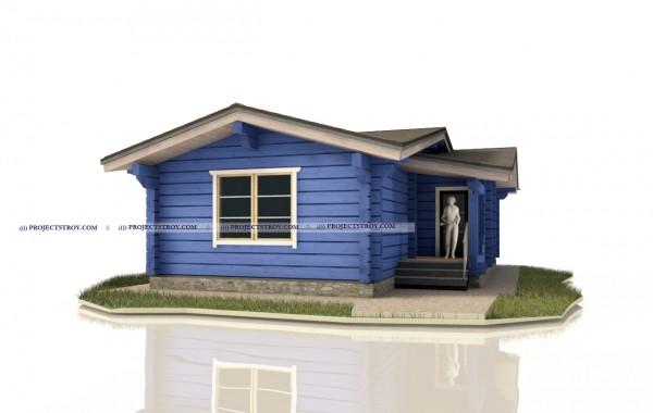 Одноэтажный дом для вытянутых участков