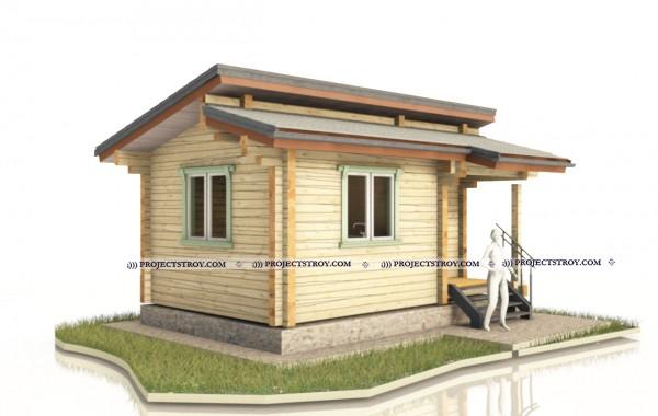 Небольшой домик или первая дачная постройка