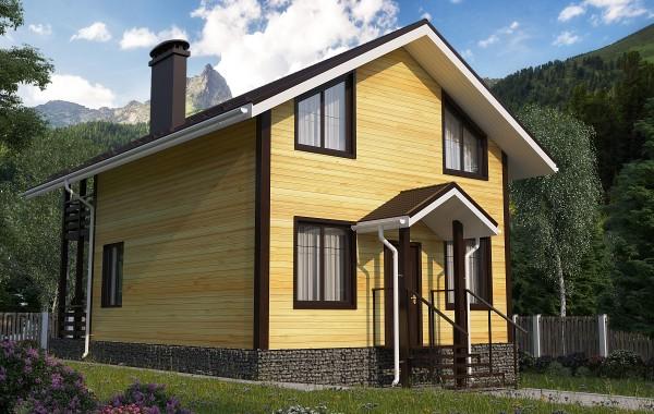 Проект каркасного дома 86 кв.м // Артикул АС-178
