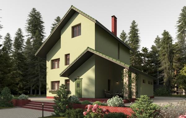Готовый проект дома 192 кв.м // Артикул К-48