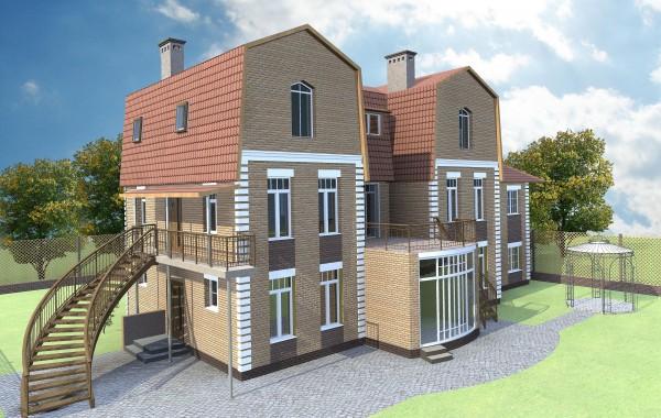 Проект особняка 306 кв.м // Артикул FP1