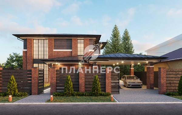 Проект дома Планнерс 109-350-2ГП