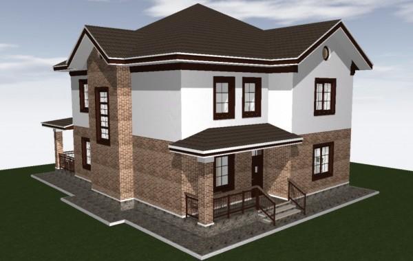 Готовый проект дома 200 кв.м // Артикул ВЧ-222