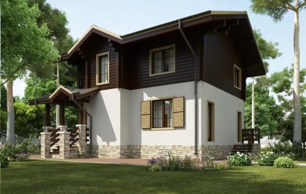 Проект дома 90 кв.м // Артикул R-42