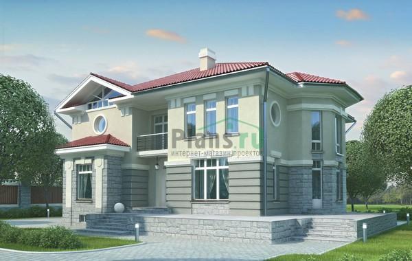 Проект бетонного дома 52-37
