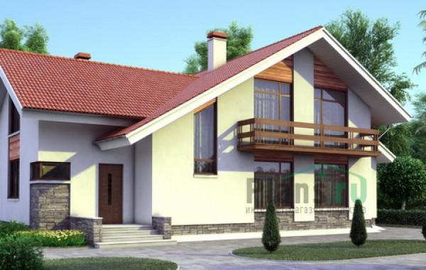 Проект бетонного дома 52-75