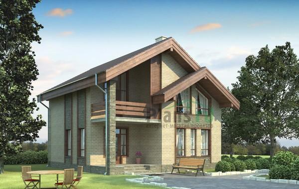 Проект бетонного дома 54-14