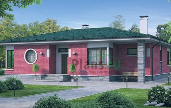 Проект бетонного дома 54-55