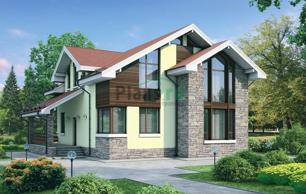 Проект бетонного дома 54-90