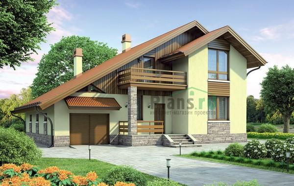 Проект бетонного дома 55-11