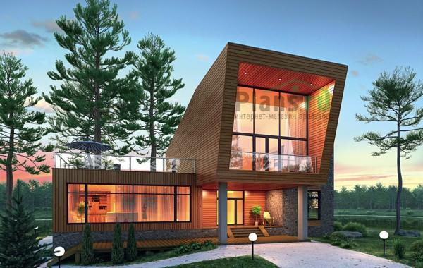 Проект бетонного дома 55-33