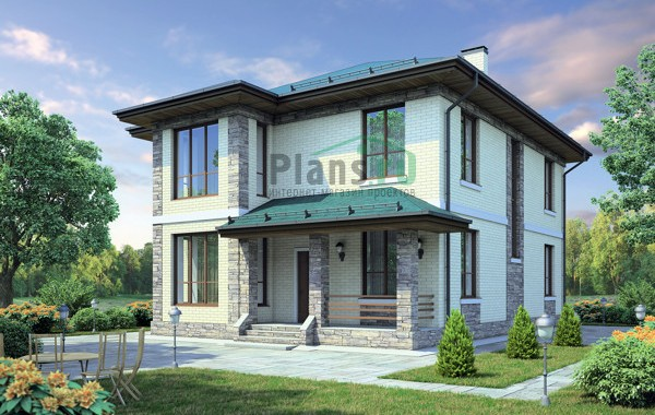 Проект бетонного дома 55-54