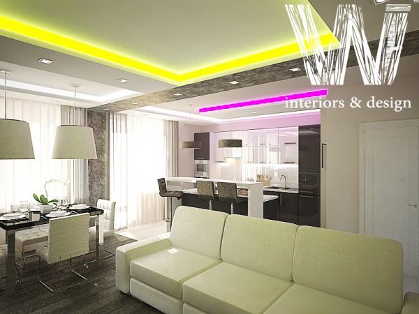 Дизайн интерьера 3-х комнатной квартиры
