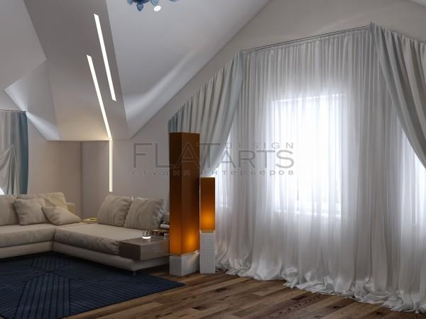 Дизайн дома 350 кв.м в стиле арт-деко. Кабинет