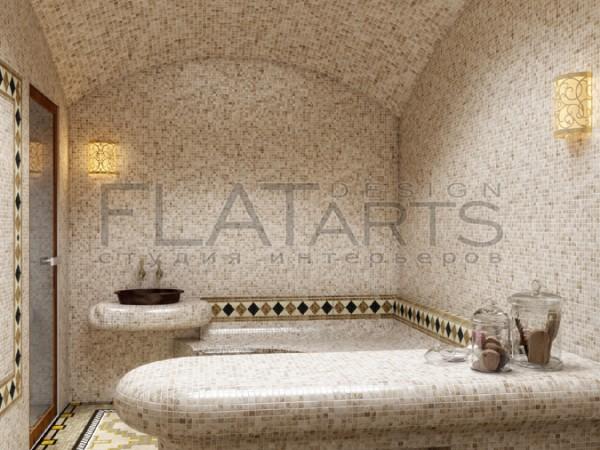 Дизайн проект банного комплекса 130 кв.м. Хамам