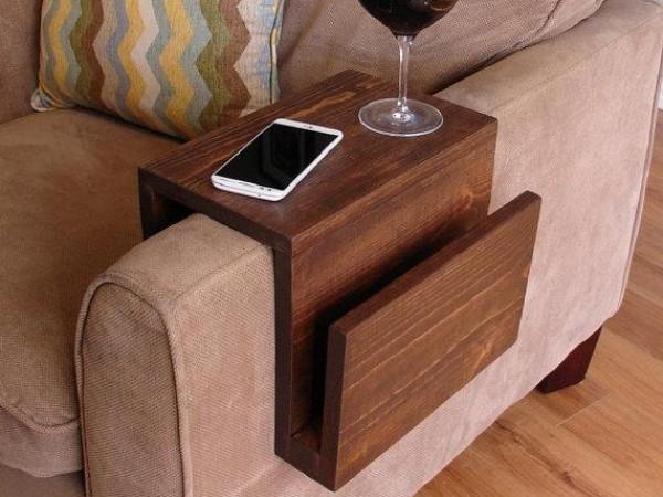 Накладные подставки на подлокотник дивана