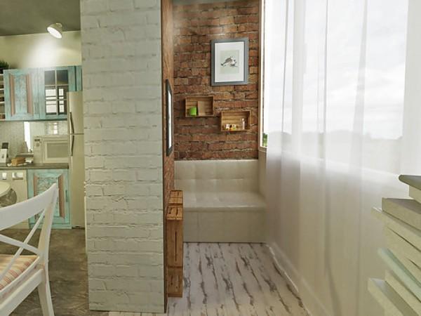 Дизайн балкона в проекте квартиры