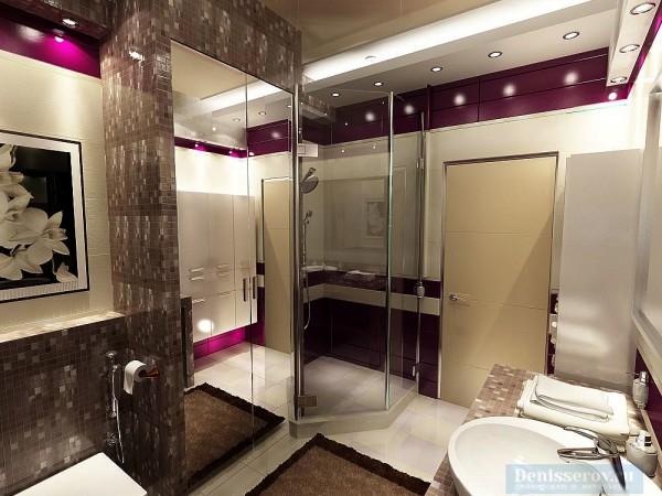 Ванная комната 12 кв. м для молодой девушки.
