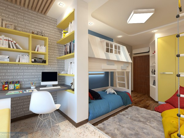 Детская комната 18 кв. м для мальчика.
