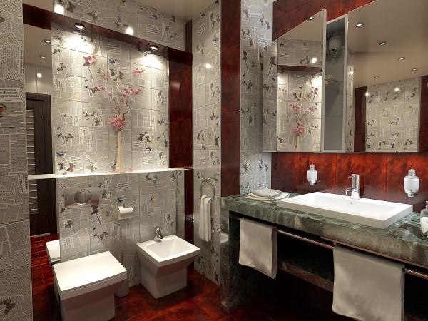 Ванная комната 12 кв. м в стиле эклектика.