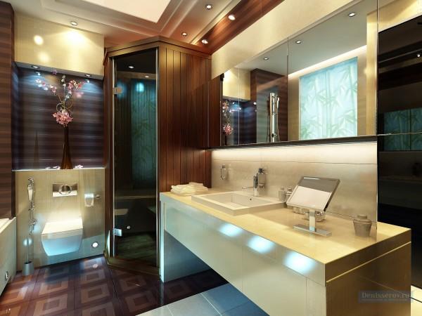 Ванная комната 12 кв. м в стиле эклектика