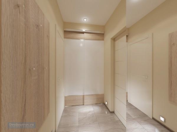 Прихожая 8 кв. м в квартире для молодого человека, современный стиль