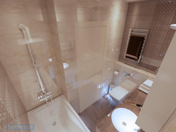 Ванная комната 6 кв. м в современном стиле для молодого человека