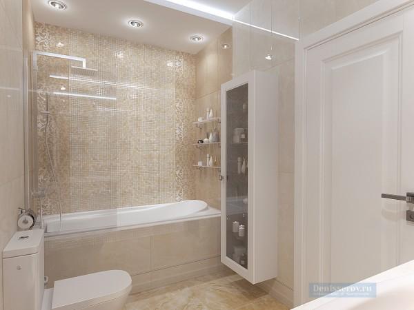 Ванная комната 8 кв. м в современном стиле