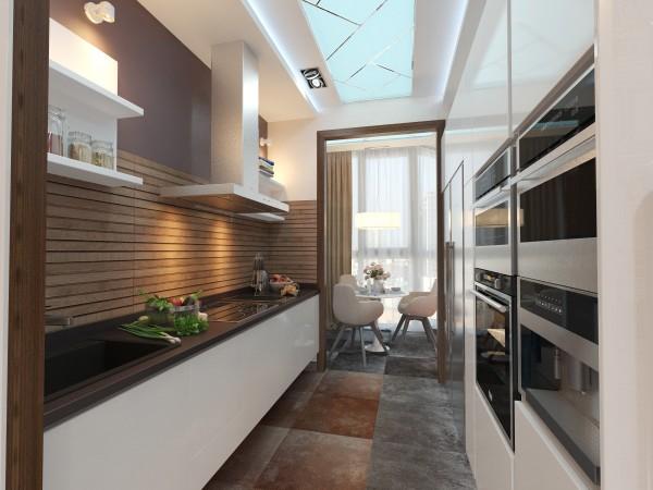 Кухня 8 кв. м в современном стиле