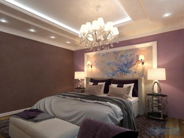 Спальня женская 16 кв. м, стиль эклектичный