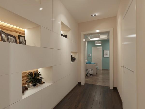 Прихожая и коридор 20кв. м в современном стиле