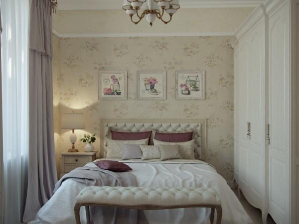 Спальня гостевая на первом этаже загородного дома