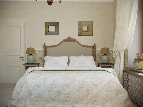 Спальня на втором этаже загородного дома