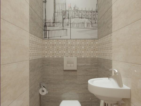 Туалет 1 кв. м