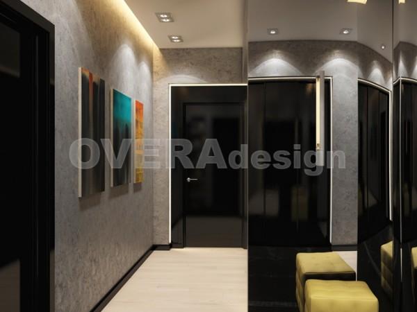2-ная кв, 85 кв.м. Дизайн-проект квартиры Народное Ополчение10
