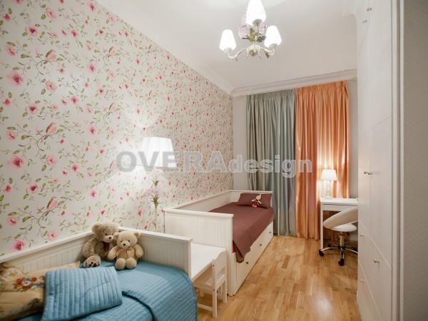 4-ная кв.113 кв.м. Реализованный проект квартиры в стиле английская классика