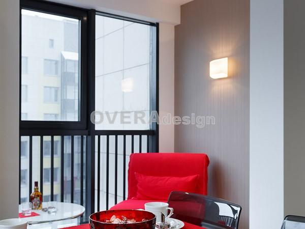 1 комн квартира, Дизайн проект в современном стиле