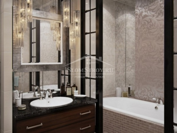 Дизайн интерьера ванной комнаты. 3D визуализация