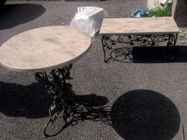 Уличная мебель из искусственного камня Corian Ravine