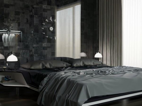 Дизайн мужской спальни.