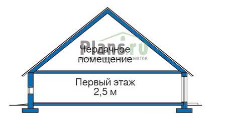 Проект кирпичного дома 35-78 фасад